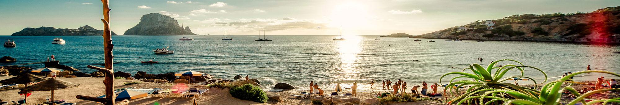 Imagen de la Cala d'Hort en Ibiza